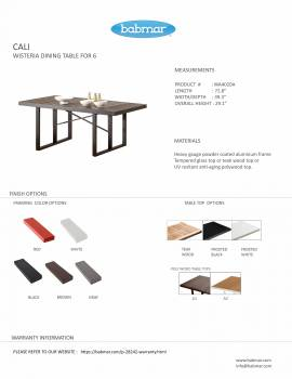 Cali Dining Table for Six