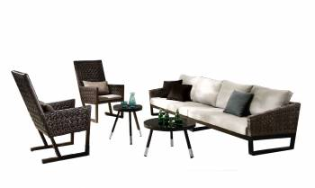 Cali Seating set for 6 with two high back Chairs