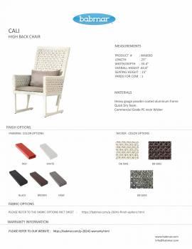 Cali High Back Chair - Image 3