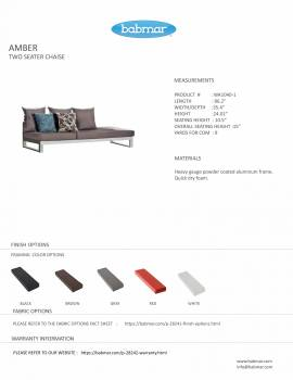 Amber Two Seater Chaise