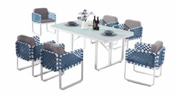 Shop by Category  - Outdoor Dining Sets - Dresdon Dining Set For 6 with Side Straps