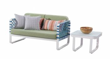 Shop by Category  - Outdoor Seating Sets - Dresdon Loveseat Sofa with Coffee Table