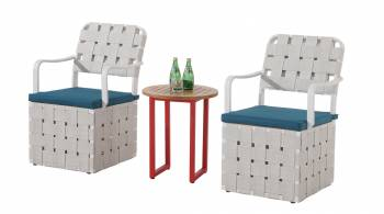 Shop By Category - Outdoor Seating Sets - Edge Seating set for 2 with woven sides chair