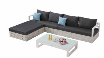 Shop by Category  - Outdoor Seating Sets - Edge Sectional Sofa Set for 4 with chaise ottoman and Coffee Table