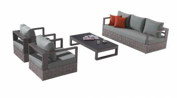 Shop By Category - Outdoor Seating Sets - Edge Sofa Set for 5 with coffee table