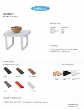 Dresdon Square Side Table - Image 2