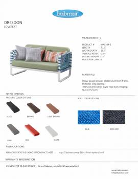 Dresdon Loveseat Sofa