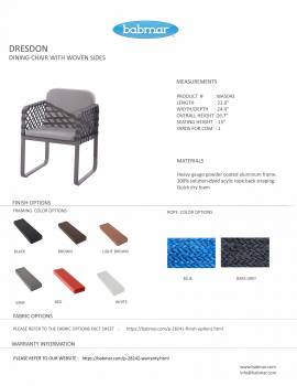 Dresdon Dining Chair with Woven Sides - Image 3
