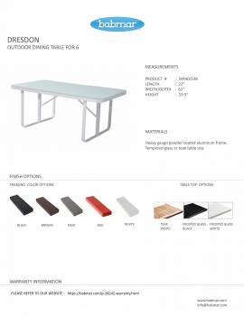 Dresdon Dining Table For 6 - Image 2