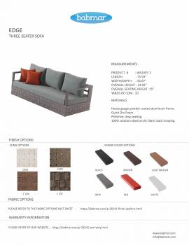Edge Sofa Set for 5 with coffee table