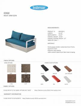 Edge Sectional Sofa Set for 4 with chaise ottoman and Coffee Table - Image 7