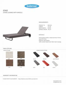 Edge Chaise Lounge with Wheels