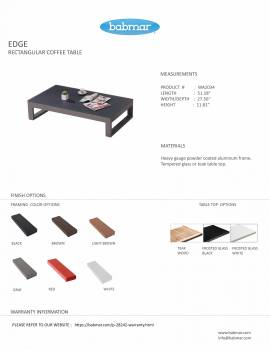 Edge Rectangular coffee table - Image 2