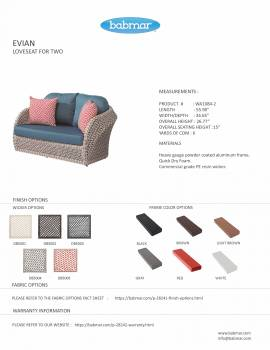 Evian Loveseat Sofa for 2 - Image 3
