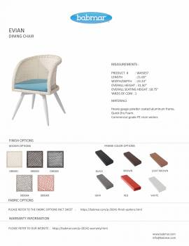 Evian Dining Chair with Woven Sides - Image 2