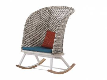 Evian Highback Rocking Club Chair - Image 1