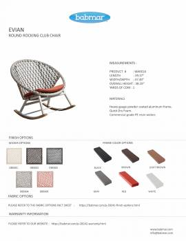 Evian Round Rocking Club Chair - Image 4