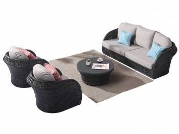 Shop By Collection - Evian Collection - Evian Rounded 5 Seater Sofa Set with 2 Club Chairs