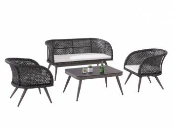 Shop by Category  - Outdoor Seating Sets - Evian Loveseat Sofa Set for 4 with two Chairs