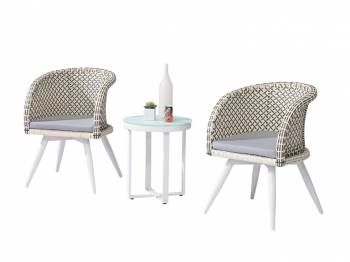 Shop By Collection - Evian Collection - Evian Set of 2 Chairs with Woven Sides with Side Table