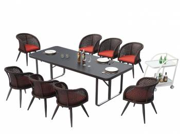 Shop by Category  - Outdoor Dining Sets - Evian Dining Set for 8