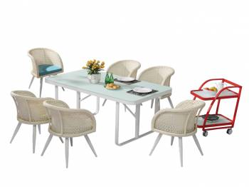 Shop by Category  - Outdoor Dining Sets - Evian Dining Set for 6