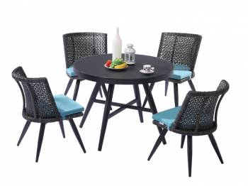 Shop by Category  - Outdoor Dining Sets - Evian Round Dining Set for 4