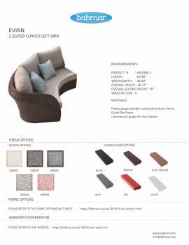 Evian Curved Left Arm Sofa WA1086