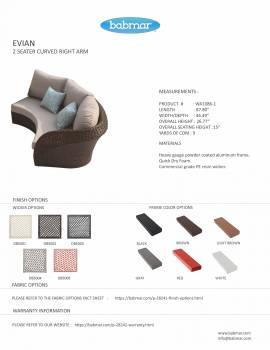 Evian Curved Right Arm Sofa WA1086
