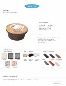 Evian Round Coffee Table