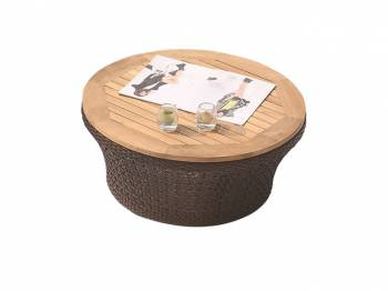 Individual Pieces - Coffee Tables, Side Tables And Ottomans - Evian Round Coffee Table