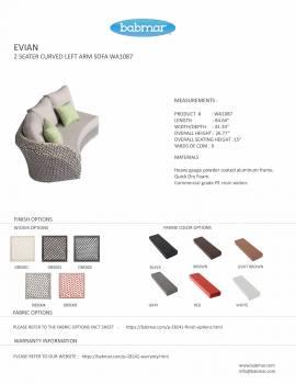 Evian Curved Left Arm Sofa WA1087