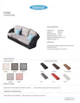 Evian Rounded 3 Seater Sofa - Image 2