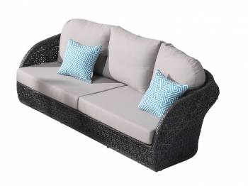 Evian Rounded 3 Seater Sofa