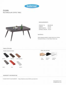 Evian Rectangular Coffee table - Image 2