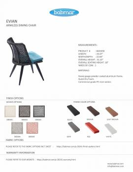Evian Armless Dining Chair