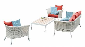 Fatsia Sofa Set With Rectangular Coffee Table