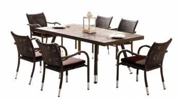 Fatsia Dining Set For 6