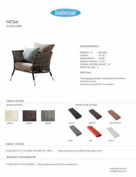 Fatsia Club Chair With Ottoman