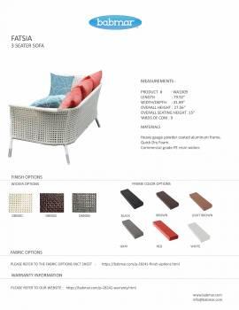 Fatsia 3-Seater Sofa