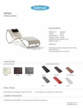 Fatsia Chaise Lounge