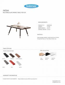 Fatsia Dining Table