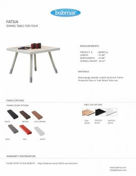 Fatsia Dining Table For 4 - Image 2