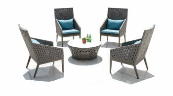 Shop By Collection and Style - Florence Collection - Florence Seating Set for 4 with 1-seaters