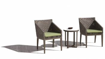 Florence Seating Set for 2 with Small Backs