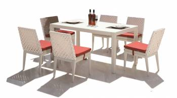 Shop By Collection - Florence Collection - Florence Dining Set for 6 with Armless Chairs