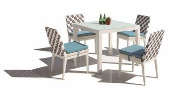 Shop By Collection - Florence Collection - Florence Dining Set for 4