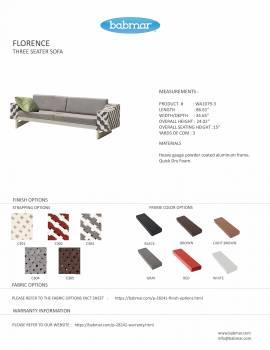 Florence 3 Seater Sofa