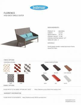 Florence Seating Set for 4