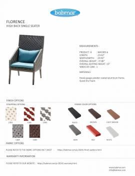 Florence High Back Chair - Image 2